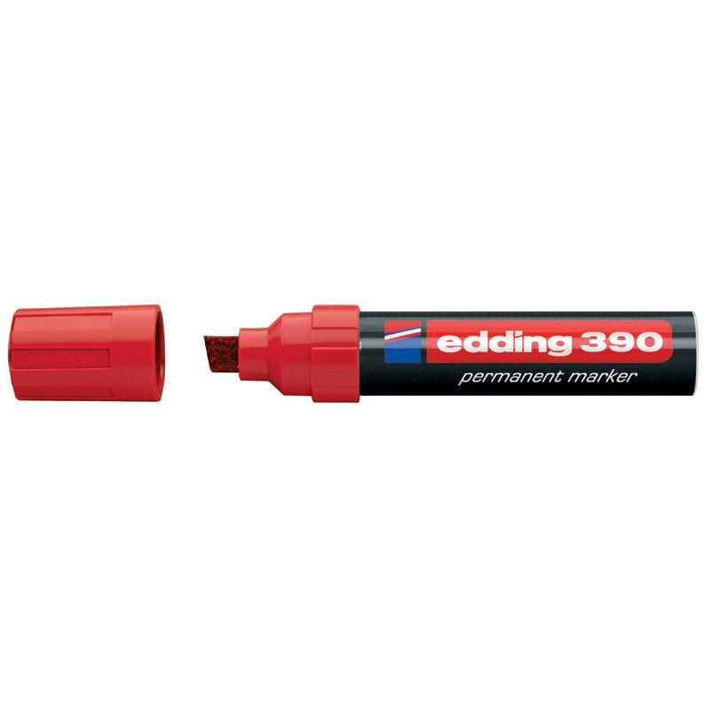 Маркер перманентный Permanent Edding 4-12 мм клинообразный красный e-390/02