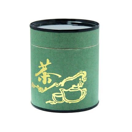 Бумажная банка для чая Зеленый чай, 50г ( контейнер для сыпучих ), фото 2