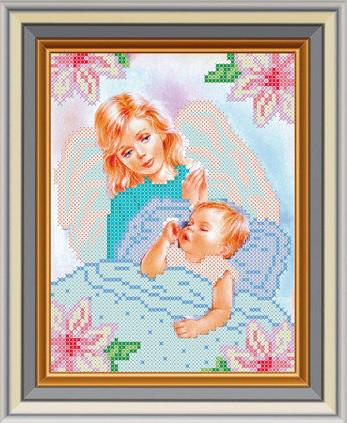 """Схема для вышивки бисером """"Ангел и дитя"""""""