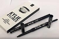 Kylie KYLINER 2in1 double eyebrow pencil Карандаш для бровей Кайли со щёточкой