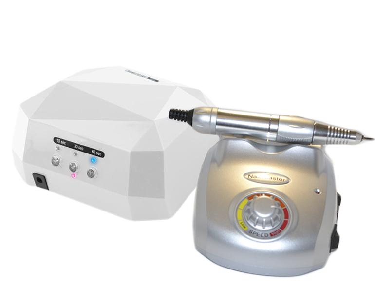 Лампа для ногтей 36Вт и фрезер для маникюра и педикюра