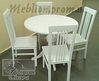 Комплект обеденный: стол и 4 стула, цвет белый