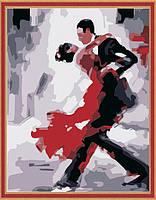 Раскраска по цифрам Танго худ. Афремов Леонид (KH121) 40 х 50 см