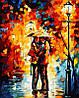 Раскраска по цифрам MENGLEI В парке под дождем худ. Афремов Леонид (MG123) 40 х 50 см