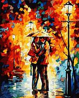 Раскраска по цифрам MENGLEI В парке под дождем худ. Афремов Леонид (MG123) 40 х 50 см, фото 1