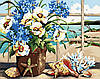 Рисование по номерам MENGLEI Цветы у моря (MG048) 40 х 50 см