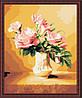 Картина по номерам MENGLEI Розы в вазе светлые (MG093) 40 х 50 см