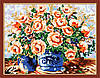 Набор для рисования MENGLEI Ваза с цветами (MG186) 40 х 50 см