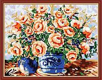 Набор для рисования MENGLEI Ваза с цветами (MG186) 40 х 50 см, фото 1