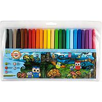 Фломастеры Koh-i-noor 24 цветов Совята пластик упак. 1012ЕТ/24