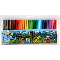Фломастеры Koh-i-noor 30 цветов Совята пластик упак. 1012ЕТ/30