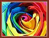 Картина по номерам MENGLEI Радужная роза (MG213) 40 х 50 см