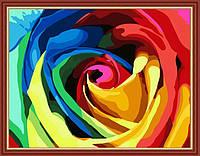 Картина по номерам MENGLEI Радужная роза (MG213) 40 х 50 см, фото 1