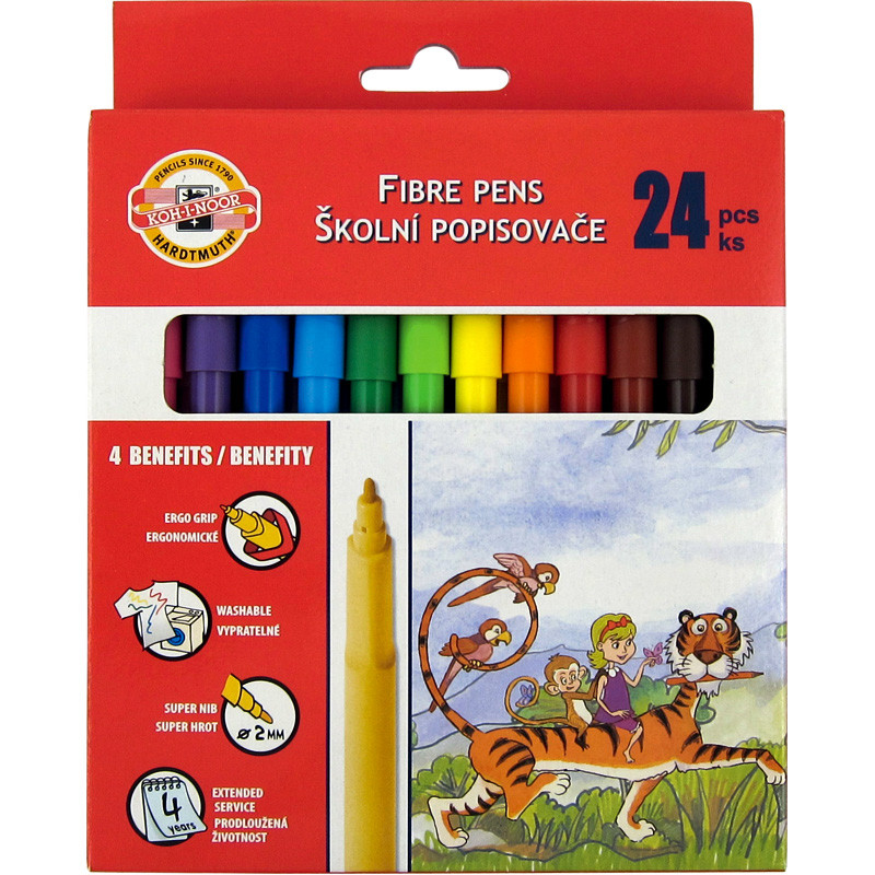 Фломастеры Koh-i-noor 24 цветов картон упак. 7710СВ/24