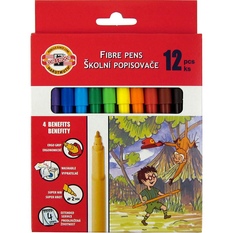 Фломастеры Koh-i-noor 12 цветов картон упак. 7710СВ/12