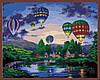 Раскраска по номерам MENGLEI Воздушные шары в сумерках (MG157) 40 х 50 см