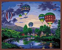 Раскраска по номерам MENGLEI Воздушные шары в сумерках (MG157) 40 х 50 см, фото 1