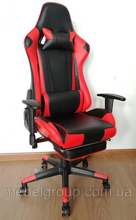Крісло Drive red з підставкою для ніг, фото 2