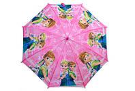 Детский зонтик для девочек с розовой ручкой