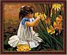 Набор для рисования MENGLEI Девочка с цветами Общение с природой (MG030) 40 х 50 см