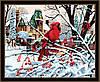 Картина по номерам MENGLEI Зима (MG160) 40 х 50 см