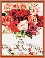 Набор для рисования MENGLEI Букет роз (MG118) 40 х 50 см, фото 1