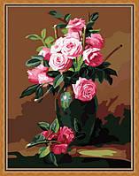 Набор для рисования MENGLEI Букет из чайных роз (MG174) 40 х 50 см, фото 1