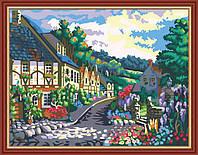 Раскраска по номерам MENGLEI Маленький европейский городок (MG200) 40 х 50 см, фото 1
