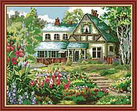 Раскраска по номерам MENGLEI Спокойный дом (MG166) 40 х 50 см, фото 1