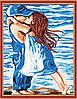 Раскраска по номерам MENGLEI Детский поцелуй (MG119) 40 х 50 см