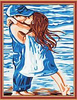 Раскраска по номерам MENGLEI Детский поцелуй (MG119) 40 х 50 см, фото 1
