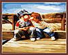 Раскраска по цифрам MENGLEI Первая любовь (MG140) 40 х 50 см