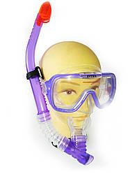 Маска с трубкой для плавания Intex с моноиллюминатором