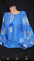 Нарядна льняная блуза с вышивкой , фото 1