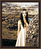 Рисование по номерам MENGLEI Девушка в пустыне (MG054) 40 х 50 см, фото 1
