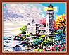 Раскраска по цифрам MENGLEI Дом у маяка (MG192) 40 х 50 см