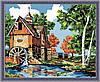 Картина раскраска MENGLEI Водяная мельница (MG142) 40 х 50 см