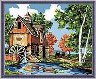 Картина раскраска MENGLEI Водяная мельница (MG142) 40 х 50 см, фото 1
