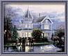 Раскраска по цифрам MENGLEI Рождественские воспоминания худ. Кинкейд Томас (MG032) 40 х 50 см