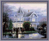 Раскраска по цифрам MENGLEI Рождественские воспоминания худ. Кинкейд Томас (MG032) 40 х 50 см, фото 1