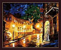 Раскраска по номерам MENGLEI Ночная улица худ. Афремов Леонид (MG065) 40 х 50 см, фото 1