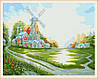 Картина по номерам MENGLEI Ветряная мельница худ. Кинкейд Томас (MG108) 40 х 50 см