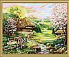 Раскраска по номерам MENGLEI Весна на хуторе (MG148) 40 х 50 см