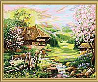 Раскраска по номерам MENGLEI Весна на хуторе (MG148) 40 х 50 см, фото 1