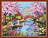 Раскраска по номерам MENGLEI Японский сад (MG190) 40 х 50 см