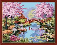 Раскраска по номерам MENGLEI Японский сад (MG190) 40 х 50 см, фото 1