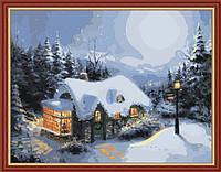 Картина по номерам MENGLEI Зима в лесу худ. Кинкейд Томас (MG222) 40 х 50 см, фото 1