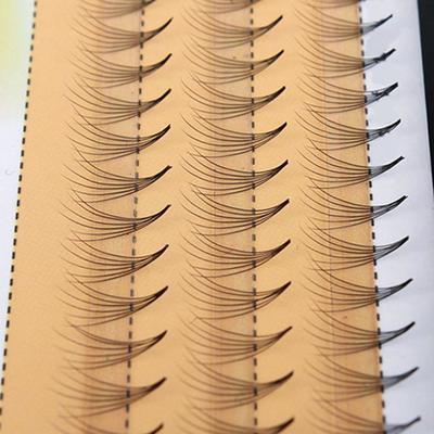 Набор из 60 пучковых ресниц 10 мм