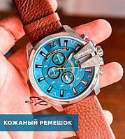 Мужские часы Diesel 10 bar (модель DZ4281) с кожанным ремешком (Тех.Пакет)