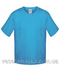 Бирюзовая детская футболка Премиум